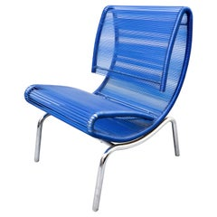 Blue Plastic Rope Chair by Roberto Semprini, Italy