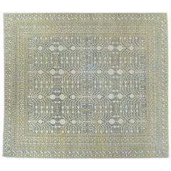 Blue Pomegranate Design Wool Area Rug