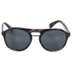 Blue Prada Aviator Sunglasses