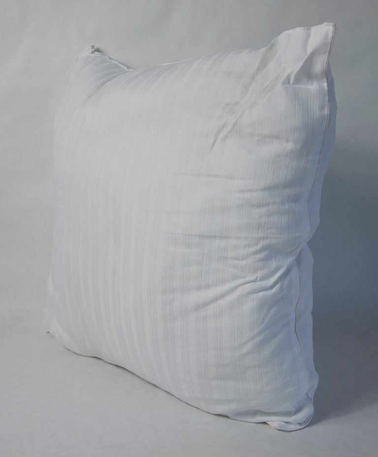 Blue, Purple, White and Black Vintage Jean Patou Silk Scarf Decorative Pillow For Sale 14