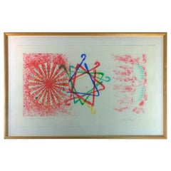 Blue, Red, Green & Yellow James Rosenquist, Number Wheel Dinner Triangle, 1978