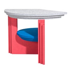 Blue Red Kandinsky Sound Absorbing Table by Marie Aigner