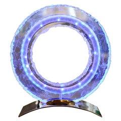 Blue Ring Medium Clock Crystal