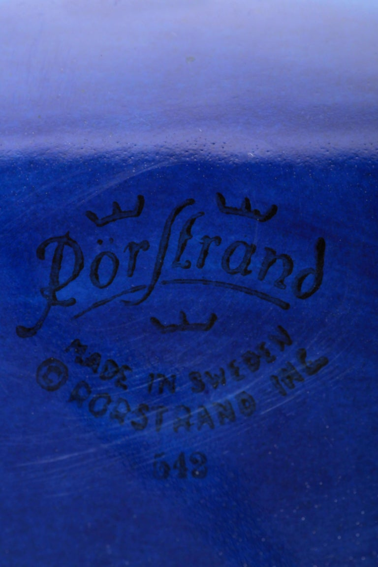 Blue Rörstrand Bowl 1950s For Sale 4