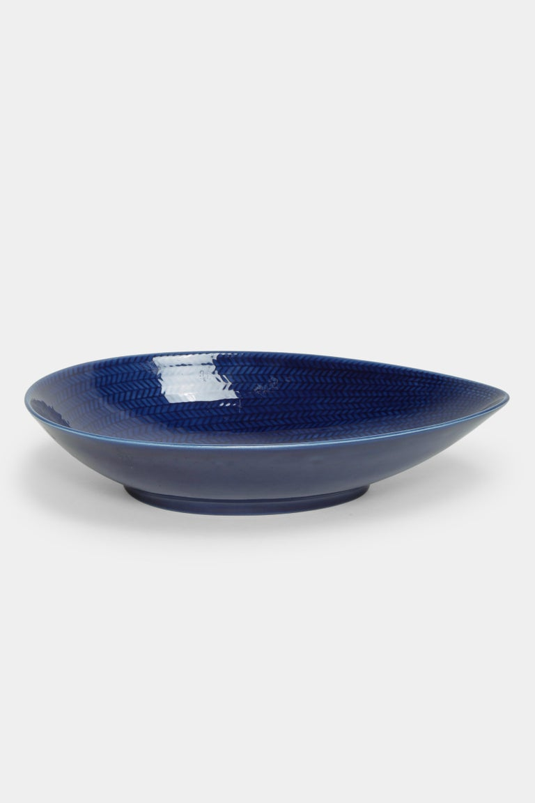 Mid-Century Modern Blue Rörstrand Bowl 1950s For Sale