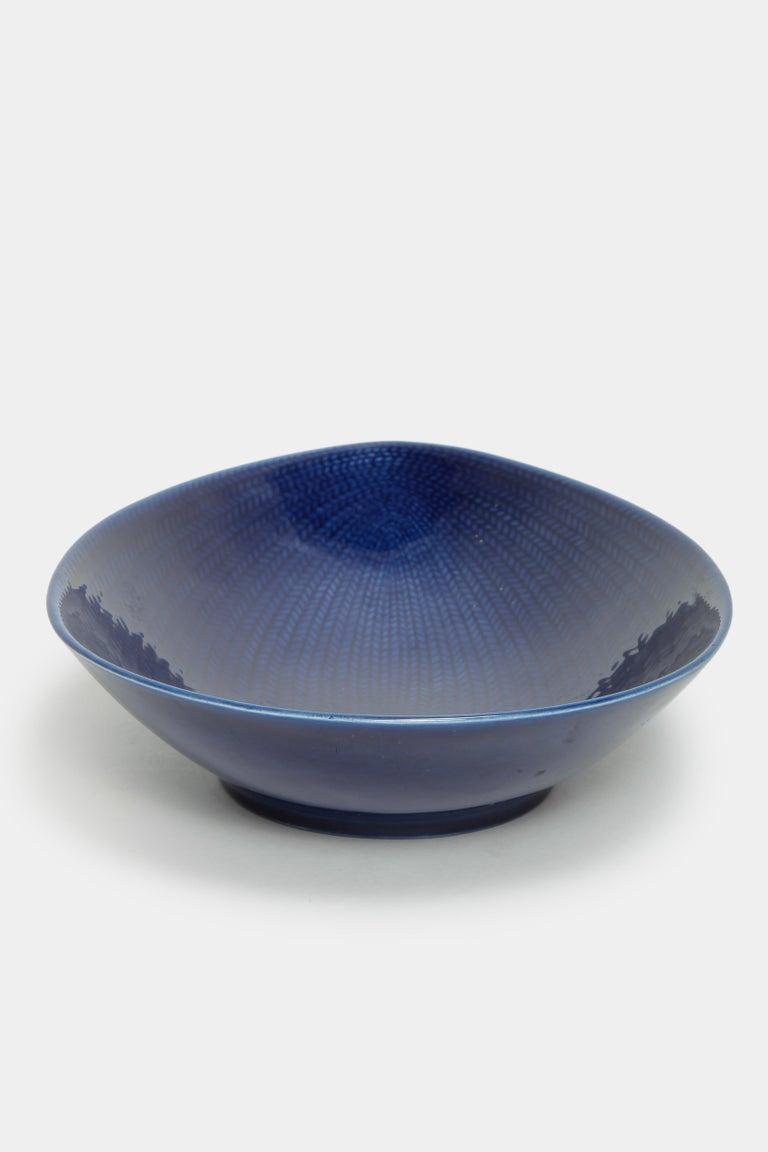 Swedish Blue Rörstrand Bowl 1950s For Sale