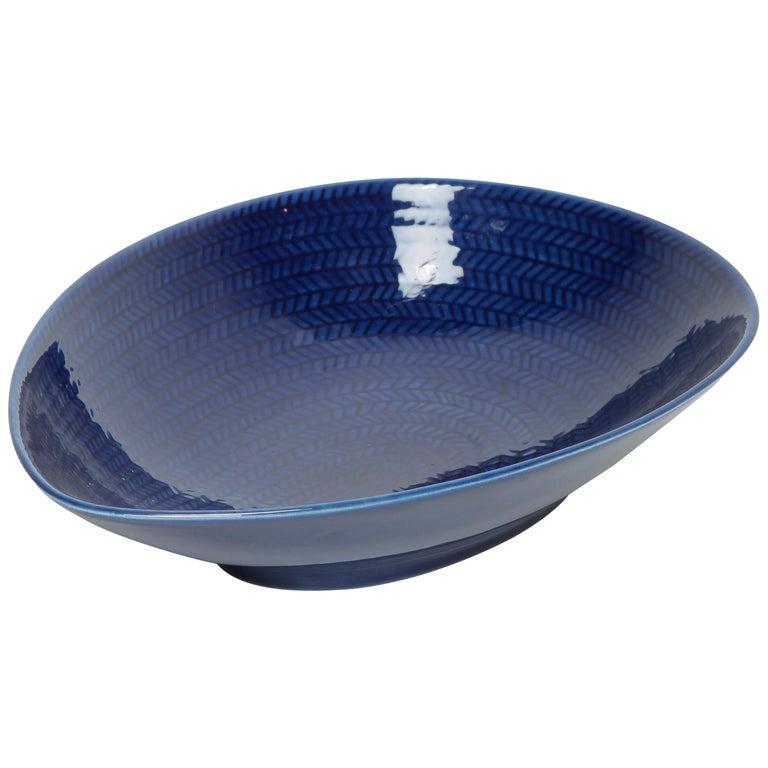 Blue Rörstrand Bowl 1950s For Sale