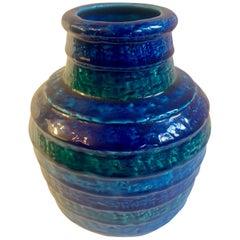 Blue Rosenthal Netter Italian Vase