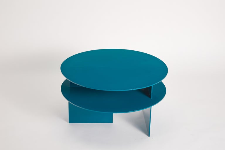 Blue Sanora coffee table by Ben Barber Studio