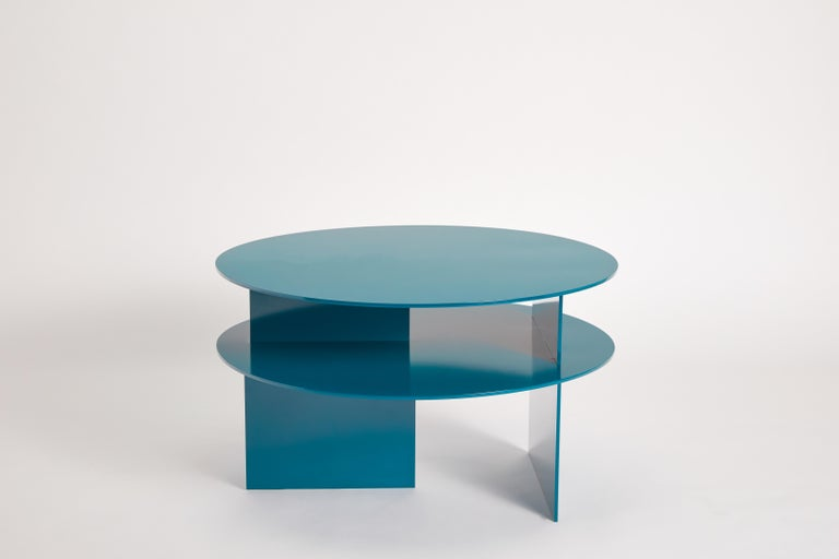Modern Blue Sanora Coffee Table by Ben Barber Studio For Sale