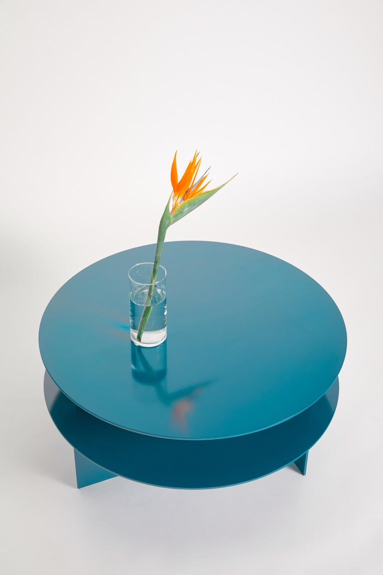 Canadian Blue Sanora Coffee Table by Ben Barber Studio For Sale