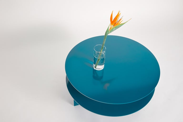 Blue Sanora Coffee Table by Ben Barber Studio In New Condition For Sale In Geneve, CH