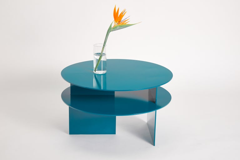 Contemporary Blue Sanora Coffee Table by Ben Barber Studio For Sale