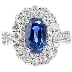 Laviere Blue Sapphire and Diamond Cocktail Ring
