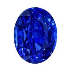 Blue Sapphire Ring Gem 5.40 Carats Oval Loose Gemstone GIA Certified Ceylon