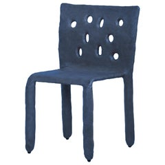 Blue Sculpted Contemporary Chair by Victoria Yakusha