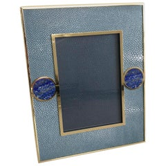 Blue Shagreen with Lapis Lazuli Photo Frame by Fabio Ltd