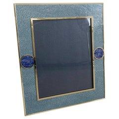 Blue Shagreen with Lapis Lazuli Photo Frame by Fabio Ltd