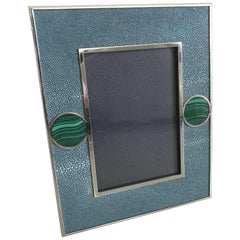 Blue Shagreen with Malachite Photo Frame by Fabio Ltd