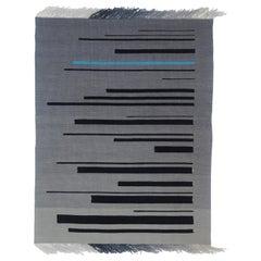 Blue Shift, Kilim Tapestry or Rug, Handmade Brooklyn, NY USA