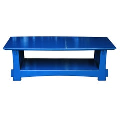 Blue Shinto-Style Coffee Table