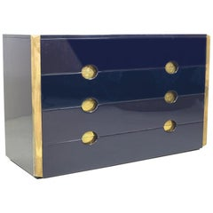 Blue Sideboard with Drawers, by Dominioni, 1960