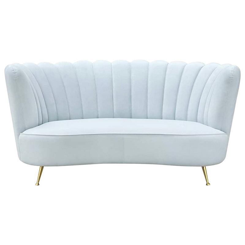 Blue Sky Sofa with Velvet Fabric
