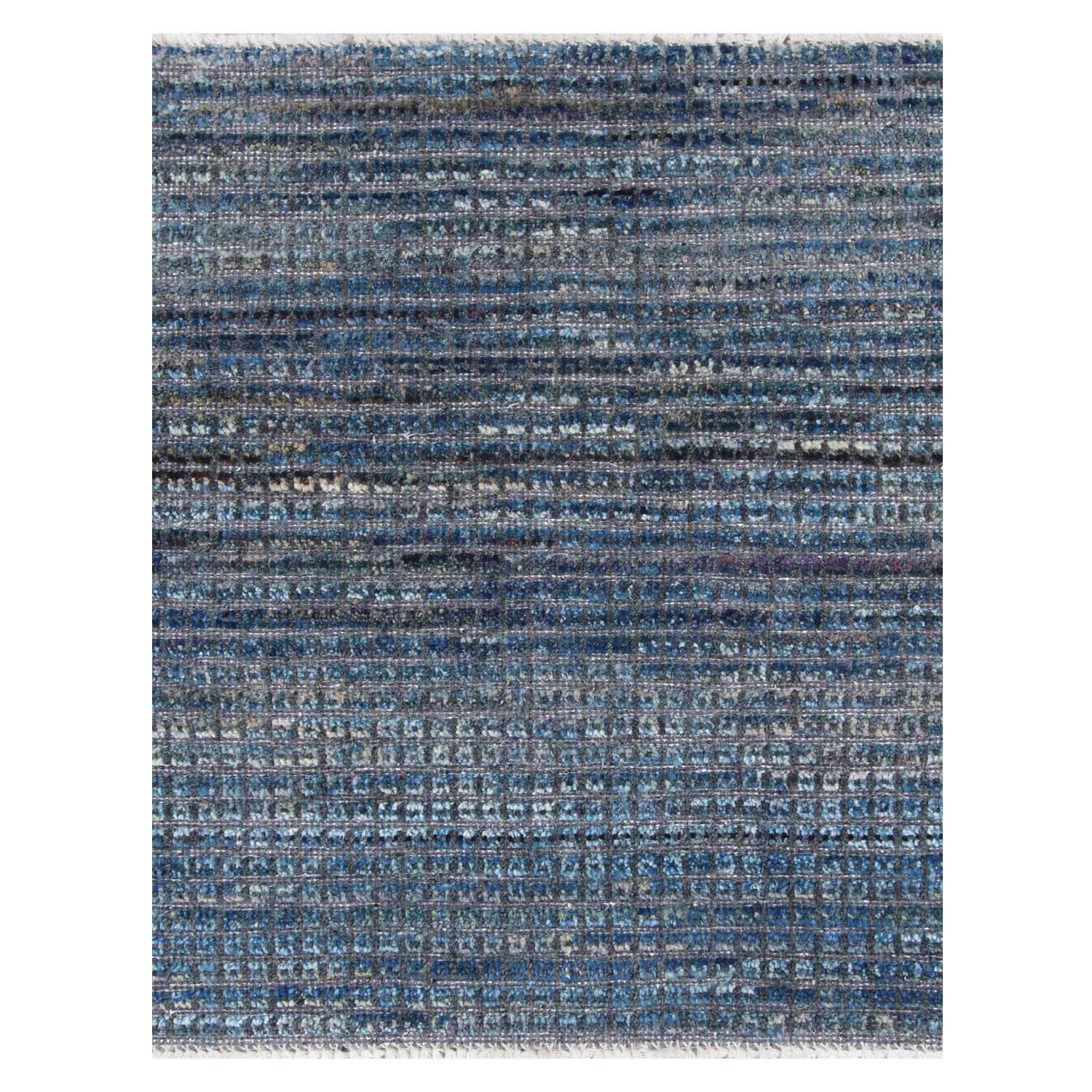 Blue Sky Variegated Hand-Knotted Wool Rug