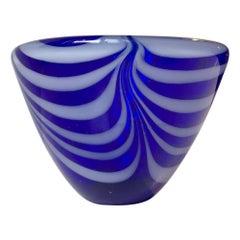 Blue Spiral Bowl by Vicke Lindstrand for Kosta Boda, 1960s