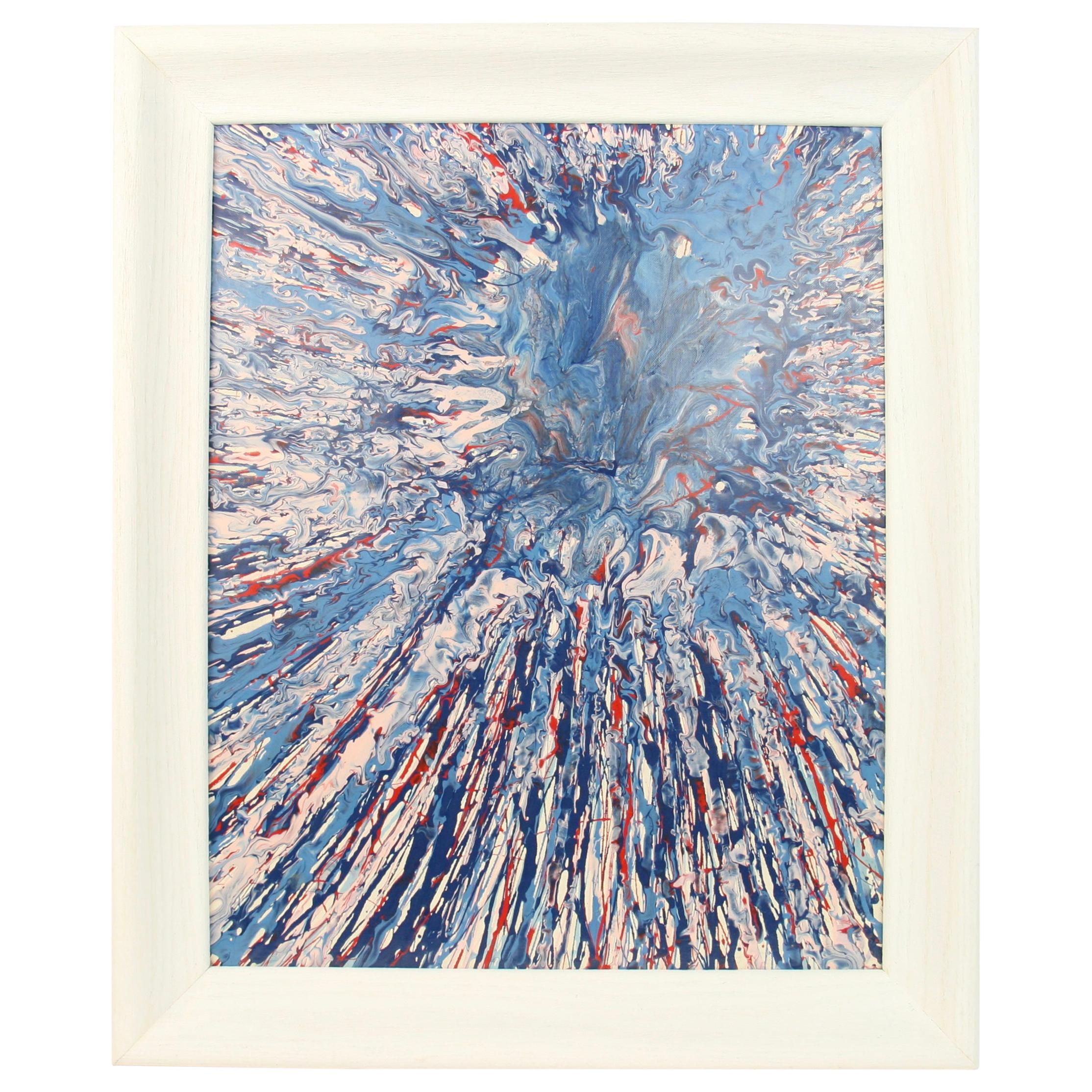 Blue Splash Abstract Painting
