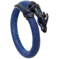Blue Stingray Bracelet with Dragon Head