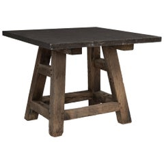 Blue Stone Workshop Table, France, circa 1930