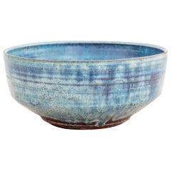 Blue Stoneware Bowl by Gutte Eriksen