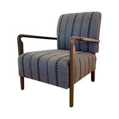 Blue Striped Niguel Lounge Chair by Lawson-Fenning, in Stock