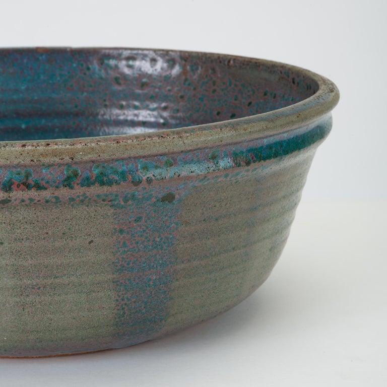 Blue Studio Pottery Serving Bowl For Sale 2