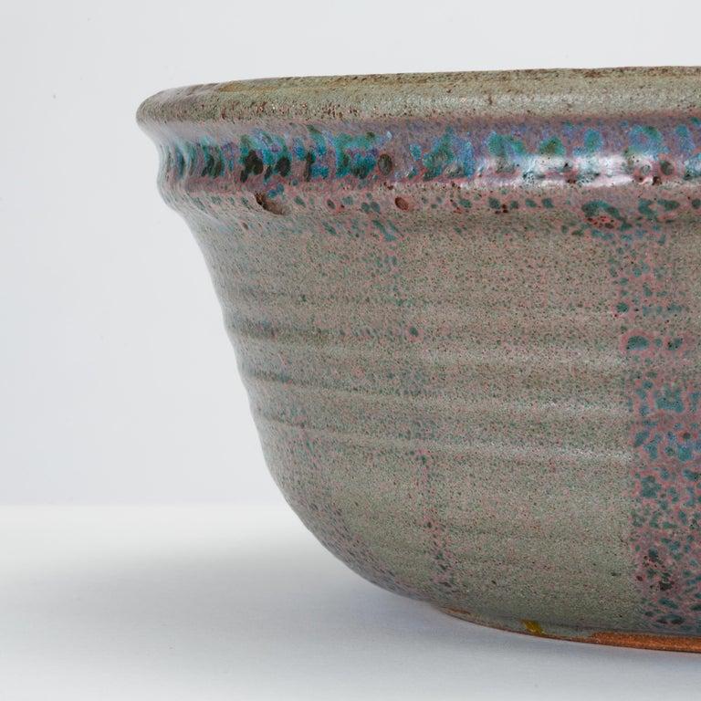 Blue Studio Pottery Serving Bowl For Sale 1