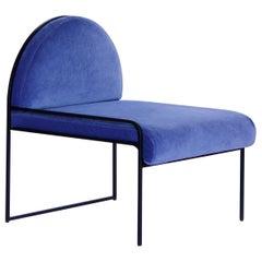 Blue SW Velvet Chair by Soft-geometry