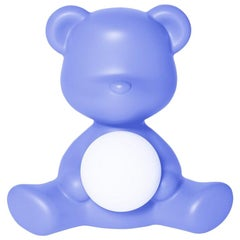 In Stock in Los Angeles, Light Blue Teddy Bear Lamp LED Rechargeable