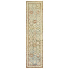 Blue Terracotta Malayer Persian Runner, Early 20th Century