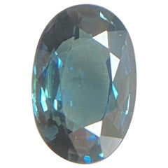 Blue Thailand Sapphire 1.18 Carat IGI Certified Oval Cut Loose Natural Gem