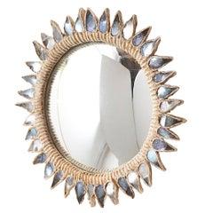 """Blue Thistle"" Mirror by Line Vautrin"