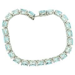 Blue Topaz Blue Line Bracelet
