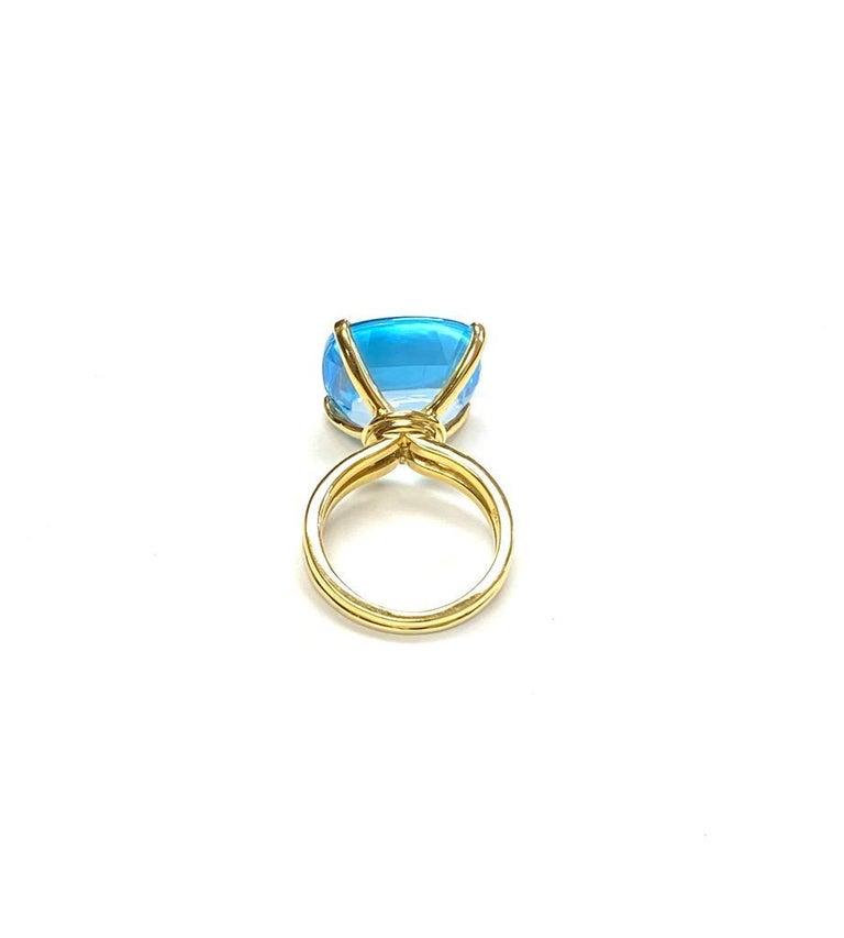 Women's Goshwara Cushion Blue Topaz Ring For Sale