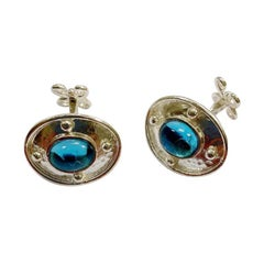 Swiss Blue Topaz Sterling Silver Cufflinks