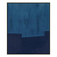 Blue Towers Abstract Decorative Wall Print by CuratedKravet
