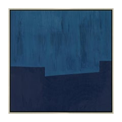 Blue Towers Abstract Decorative Wall Print in Square by CuratedKravet