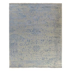 Blue Transitional Indian Wool Rug