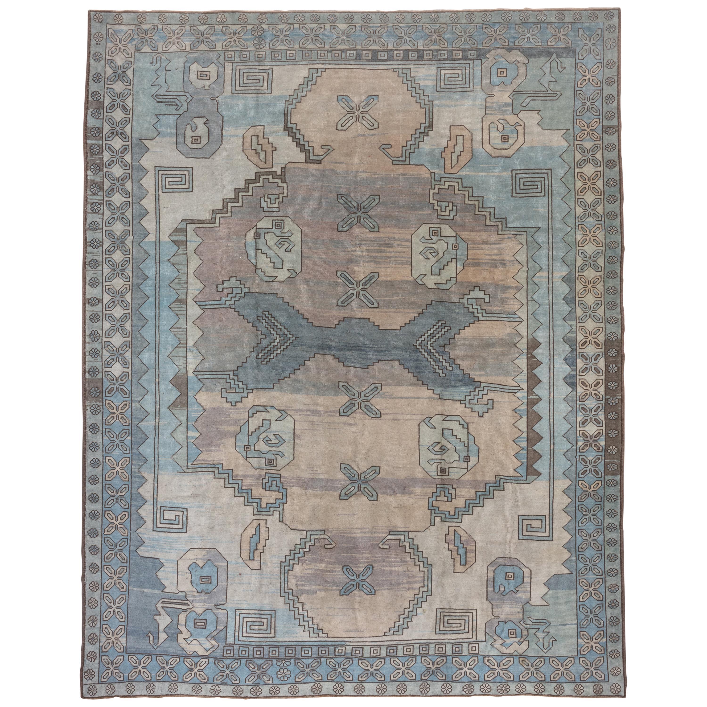 Blue Turkish Oushak Carpet, circa 1940s