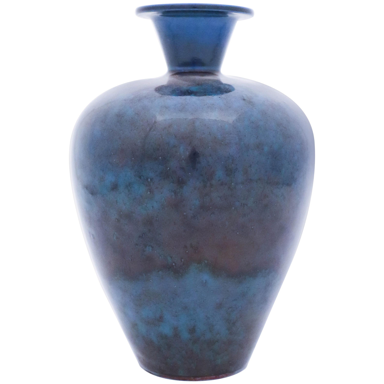 Blue Vase, Berndt Friberg, Gustavsberg 1969, Aniara Glaze