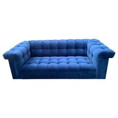Blue Velvet Dunbar Party Sofa by Edward Wormley